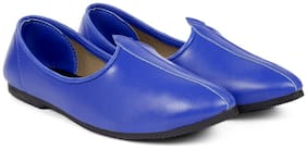 Global richMen's Faux Leather Blue Jutti's, Nagra's and Mojari's