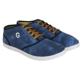 GLOBALITE Men Gold Sneakers Shoes
