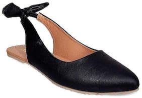 GNIST Back Bow Black  Sandals