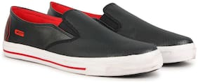 Goldstar Men Black & Red Casual Shoes