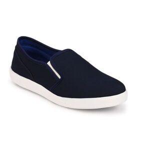 Groofer Men's Blue Slip on Casual Sneakers