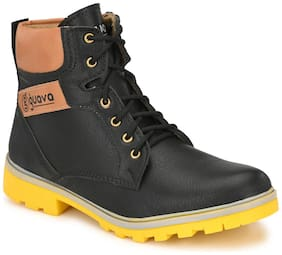 Guava Men Black Outdoor Boots - GV15JA689