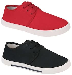 GYMSYM Men Red & Black Casual Shoes
