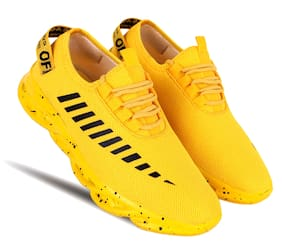 HEEDERIN Men Running Shoes ( Yellow )