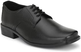 HEEDERIN Men Black Derby Formal Shoes