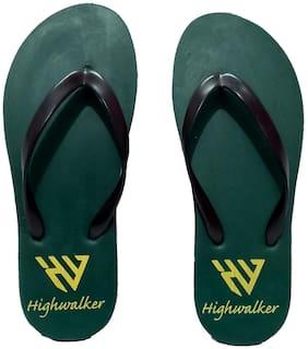 HighWalker Military Green Flat Slippers