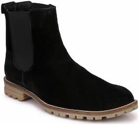Hirel's Men Black Chelsea Boots