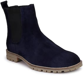 Hirel's Men Blue Chelsea Boots