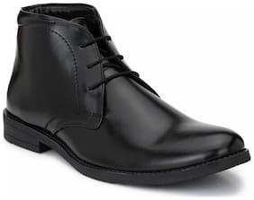 Hirel's Men Black Ankle Boots - HIREL1590