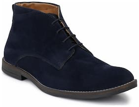 Hirel's Men Blue Ankle Boots - HIREL1645