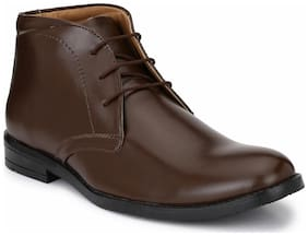 Hirel's Men's Brown Ankle Boots