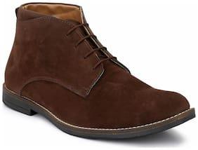 Hirel's Men Brown Ankle Boots - HIREL1640