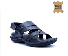 Hitz Men Black Sandals