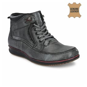 Men Grey Ankle Boots