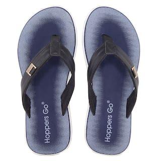 9764ca45d42974 Buy Hoppers GO Men Navy Blue Flipflop   Outdoor Slippers Online at ...