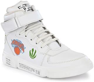 HUNDO P High Top Sneakers For Men ( White )