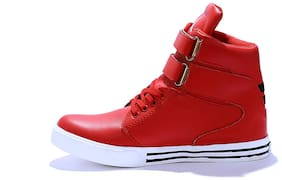 HUSH BERRY Men Red Sneakers