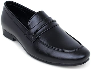 HUSH BERRY Men Black Loafers - HB281