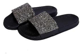 HUSH BERRY Women Silver Sliders