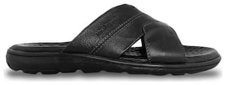 HUSH PUPPIES Men CHARLES MULE Black Outdoor Slippers