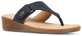 HUSH PUPPIES Leather T-Strap Flats For Women