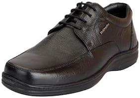 Hush Puppies Men's Premium Leather Black Formal Lace Up Shoes