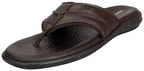 Hush Puppies Men's Premium Leather Brown House Slippers