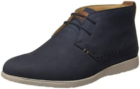 Men Blue Ankle Boots