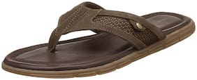 Hush Puppies Men's Socrates Brown Leather Hawaii Thong Sandals (8744042)