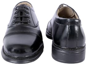 ICEBULL LEATHER JEF042 BLACK POLICE SHOES