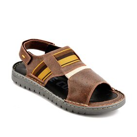 Id Men Tan Sandals & Floaters