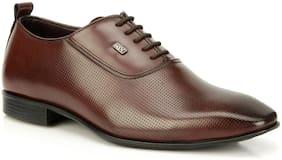 Men Oxford Formal Shoes ( Wine )