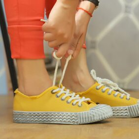 Enso Women's Yellow Canvas Shoes