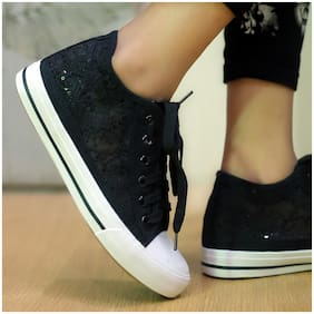 Enso Women Black Casual Shoes