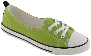 Enso Canvas Shoes for Women - Black and Green