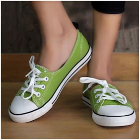 Enso Women's Green Canvas Shoes