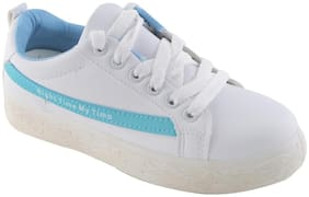 Enso Sneakers Shoes for Women - White and Sky-blue