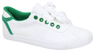 Enso Casual Shoes for Women - White and Green