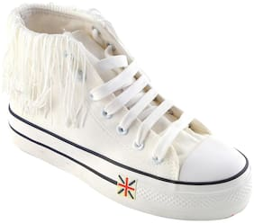 Enso Canvas Shoes for Women - White and Black
