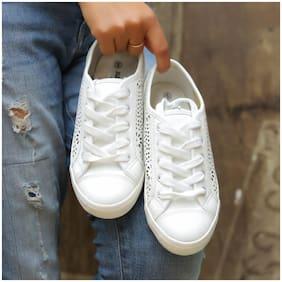 Enso Women's White Casual Shoes
