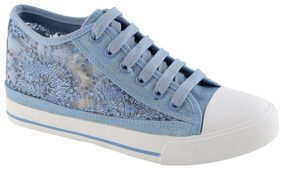 Enso Women's Blue Canvas Shoes