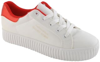 Enso Casual Shoes for Women - Red and White