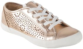 Enso Women Gold Casual Shoes
