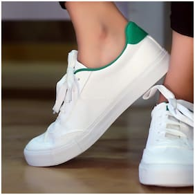 Enso Women Green & White Casual Shoes