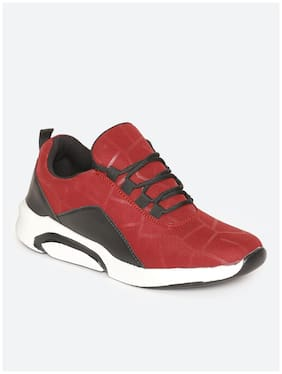 IMT Men Red Casual Shoes - 1001-LAYASA_CHERRY