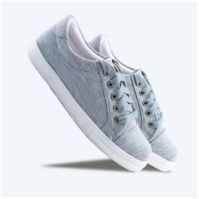 Women Solid Sneakers ( Grey )