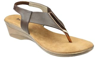 cf450fe843d Buy Inc.5 Women Yellow Sandals Online at Low Prices in India ...