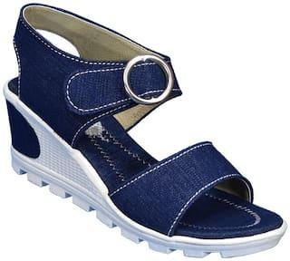 IndiForce Women Blue Wedges
