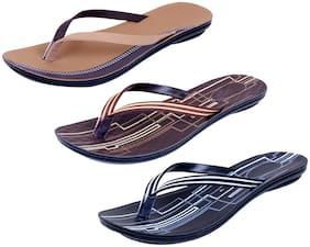 IndiWeaves Womens Slippers/Flipflops Pack of 3