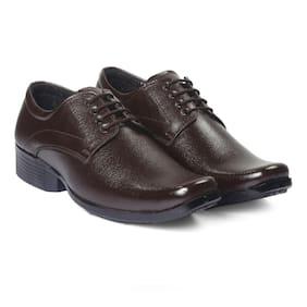 Inlazer Men Brown Derby Formal Shoes - 327-BROWN